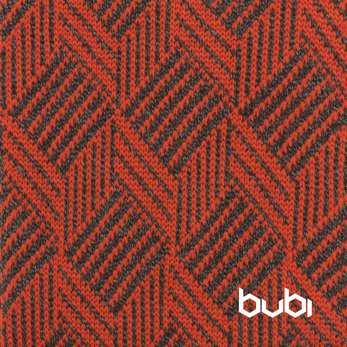 sciarpa ad anello arancio grigio texture