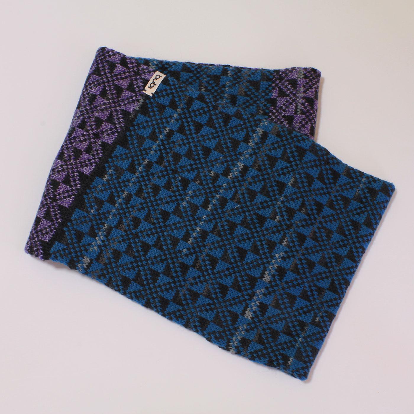 sciarpa ad anello blu lilla insieme