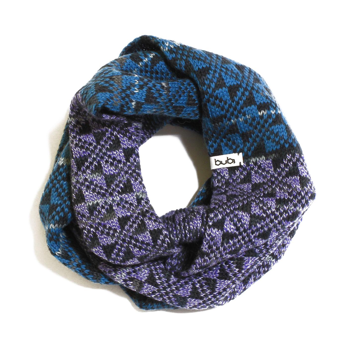 sciarpa ad anello blu lilla