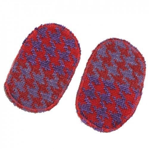 toppa pied de poule rosso viola