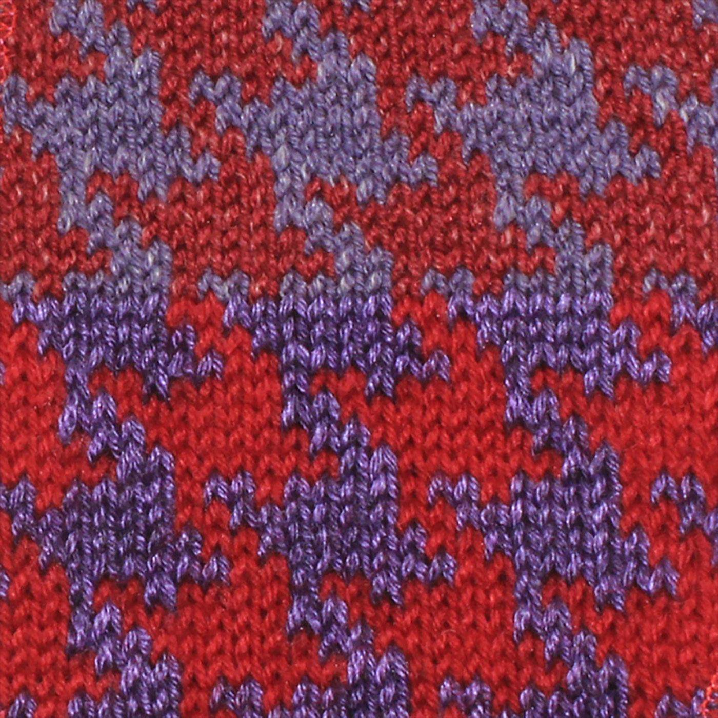 toppa pied de poule rosso viola texture