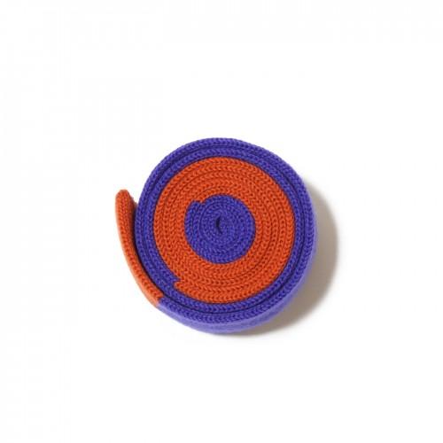 cravatta maglia azzurro arancio minerva
