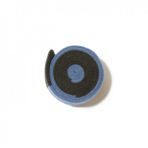 Cravatta maglia azzurro grigio