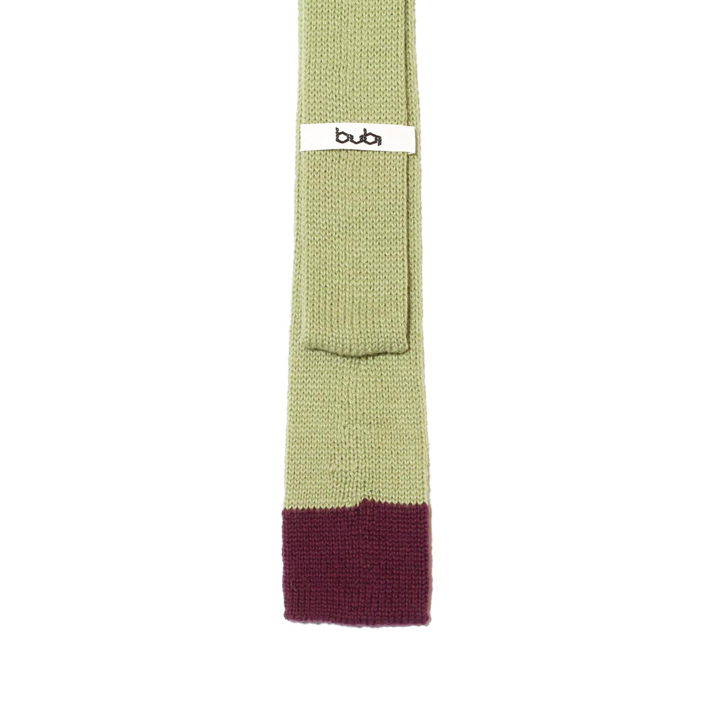 cravatta lana verde