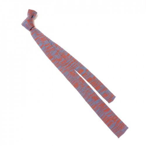cravatta maglia arancio azzurra