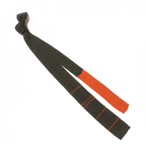 cravatta maglia grigio arancio