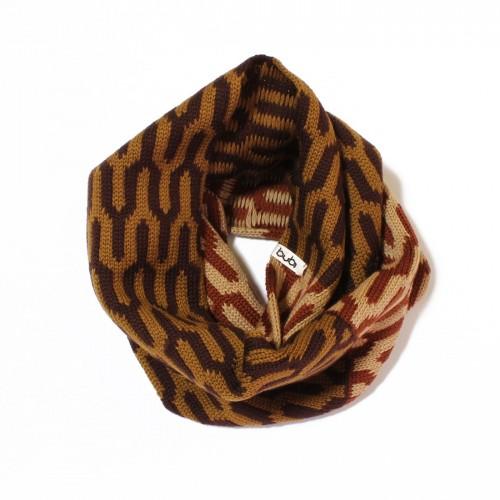 sciarpa ad anello toni marroni