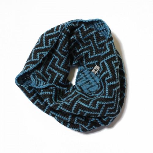 sciarpa ad anello blu antracite elettrozeta