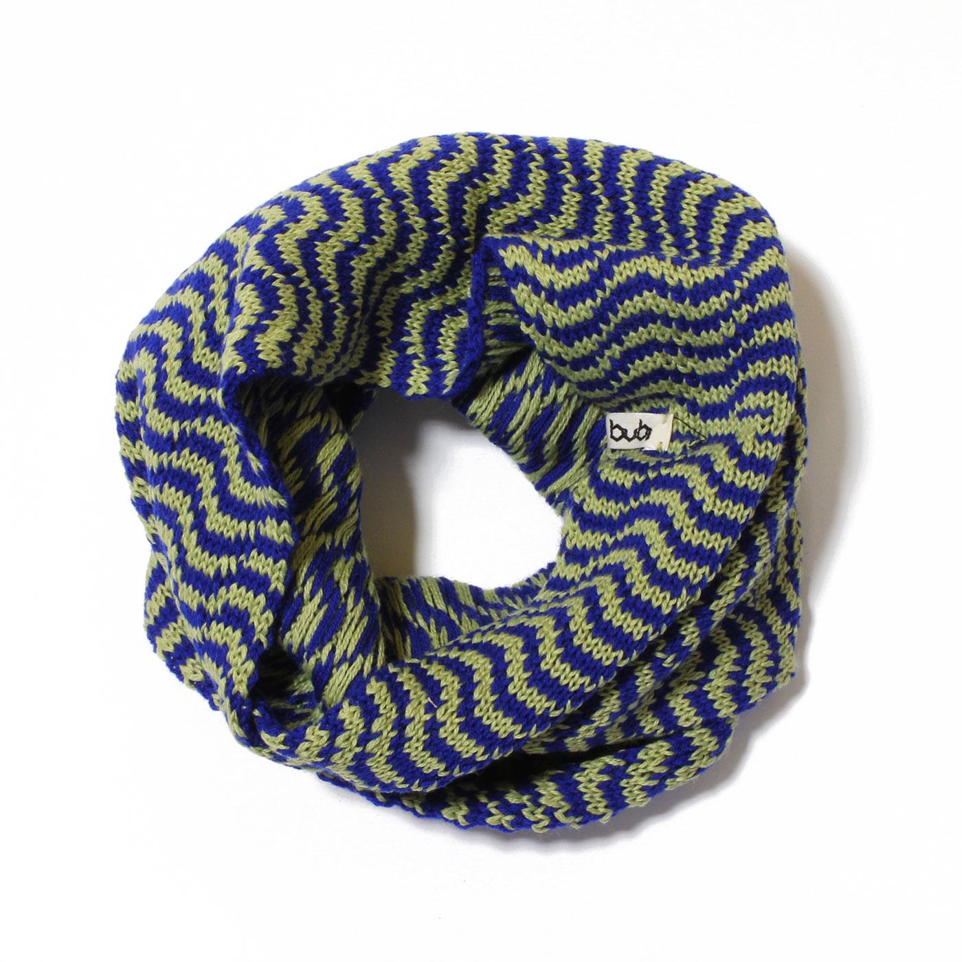 sciarpa ad anello verde blu ondine