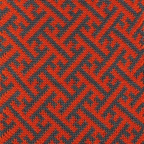 sciarpa ad anello arancio avio sayagata