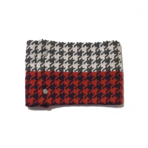 sciarpa ad anello grigio bianco viola nero
