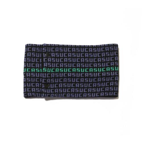 sciarpa ad anello nero azzurro verde suca