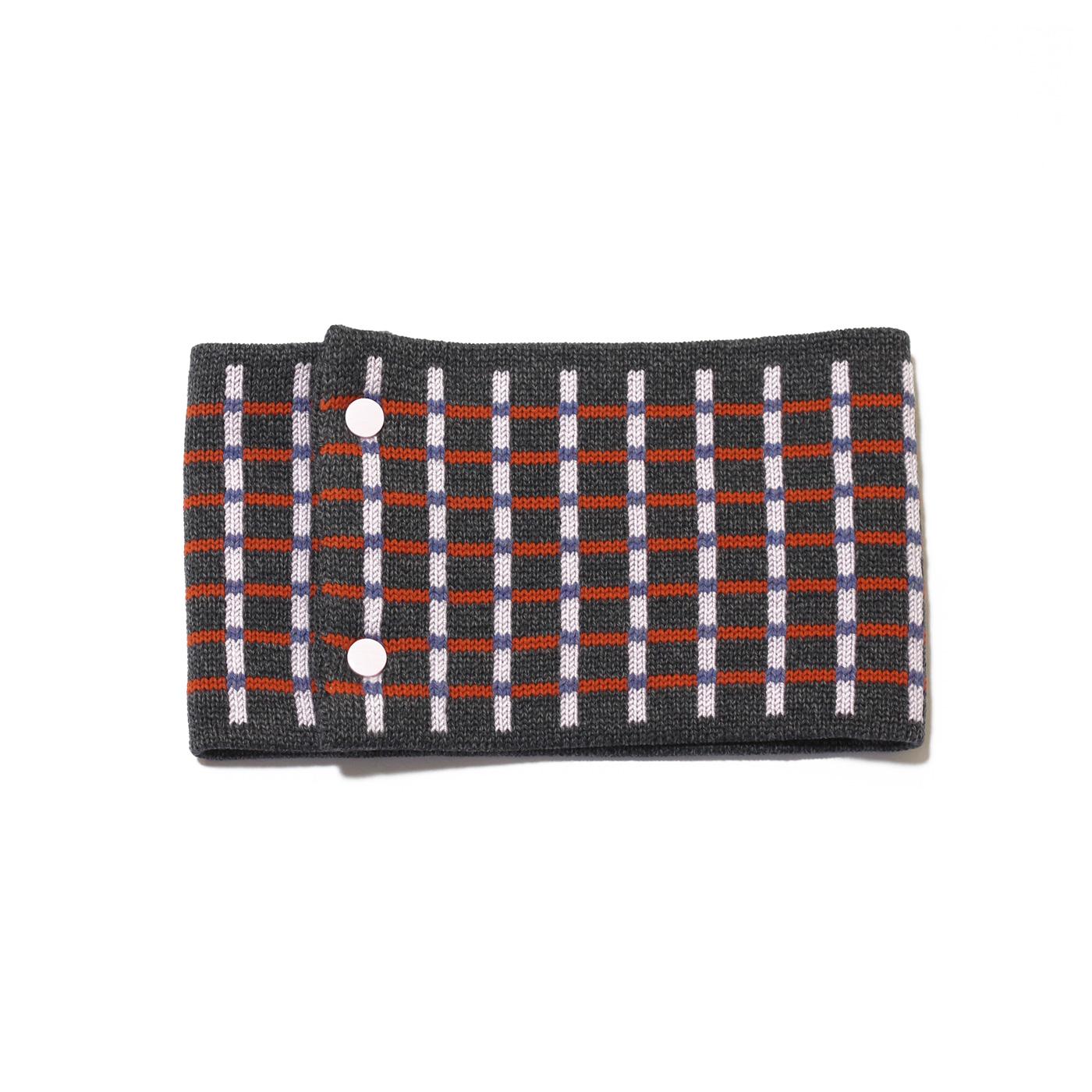 sciarpa ad anello grigio rosa arancio azzurro