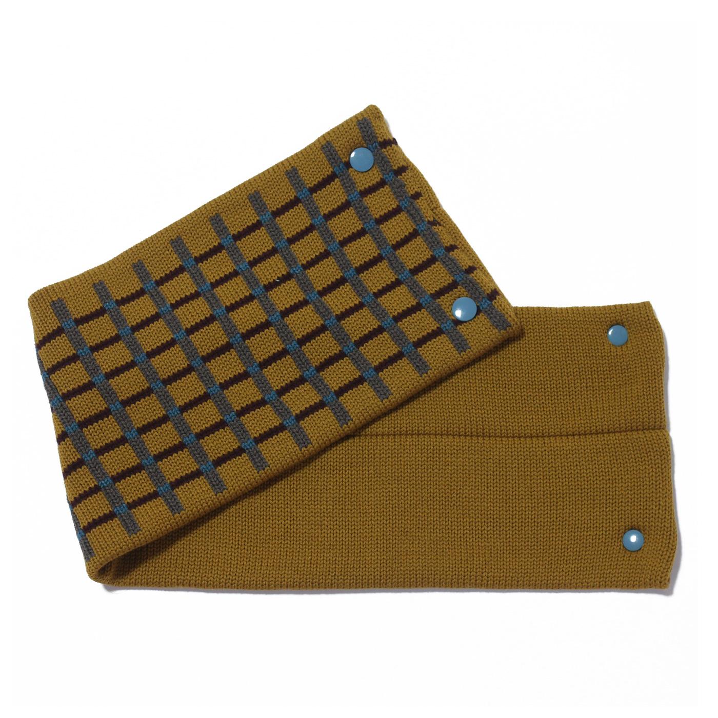 sciarpa con bottoni senape grigio bordeaux azzurro
