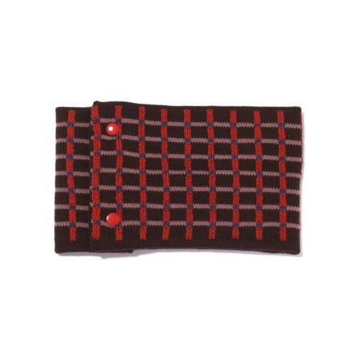 sciarpa ad anello tabacco rosso rosa azzurro