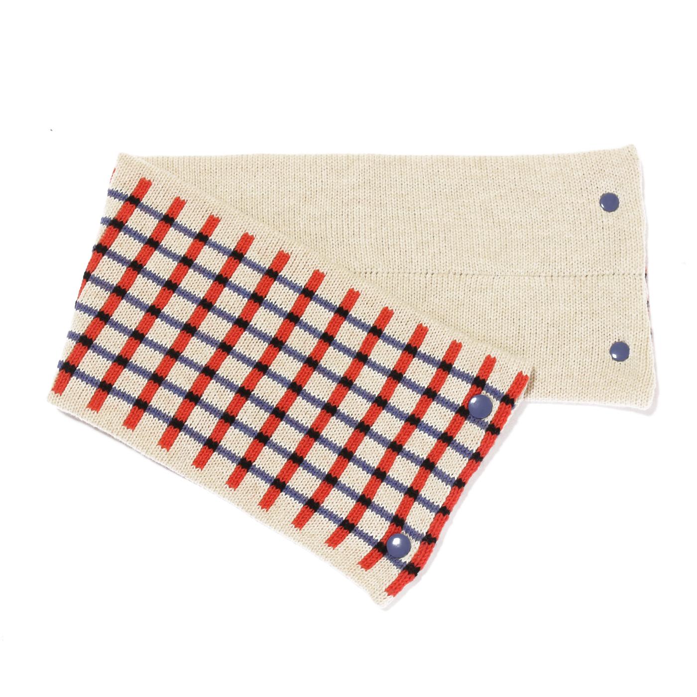 sciarpa con bottoni bianco arancio azzurro nero