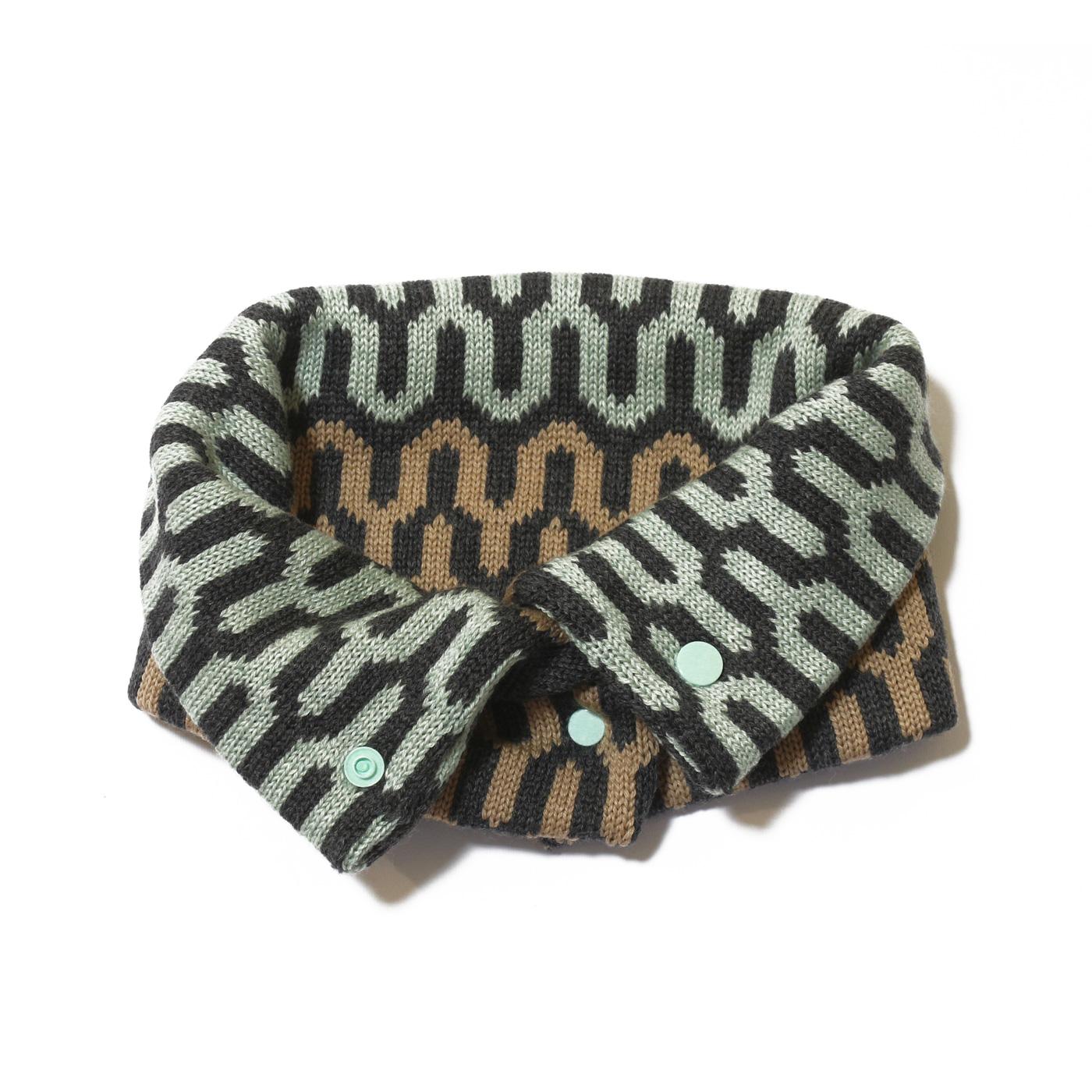sciarpa ad anello verde avana antracite