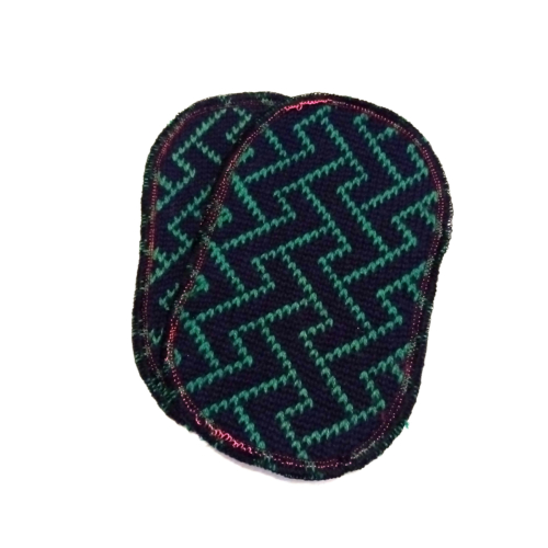 toppa lana elettrozeta blu verde