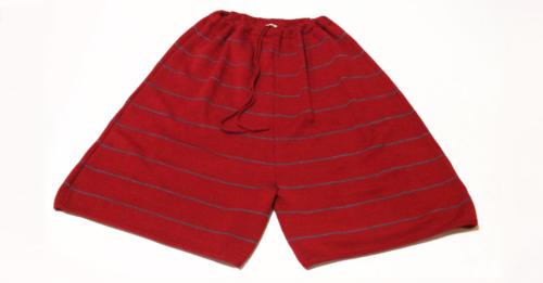 Gonna pantalone in lana rosso