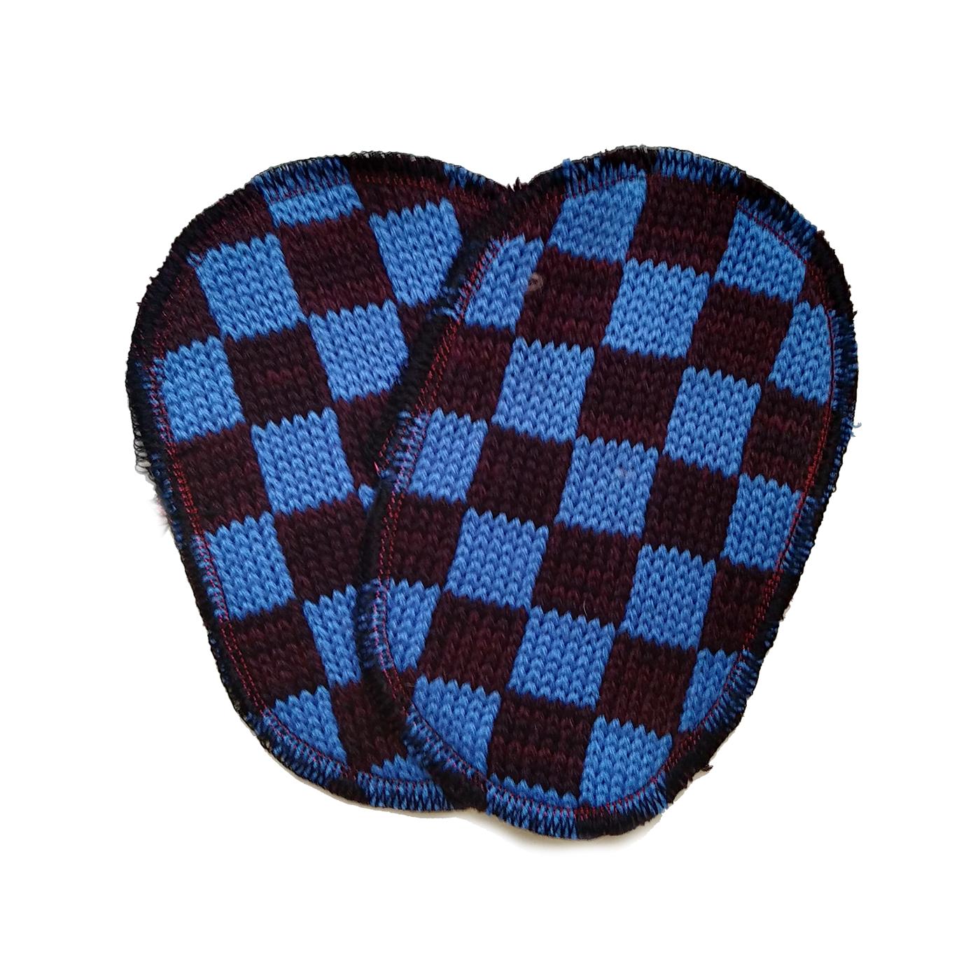 toppa maglia azzurro bordeaux