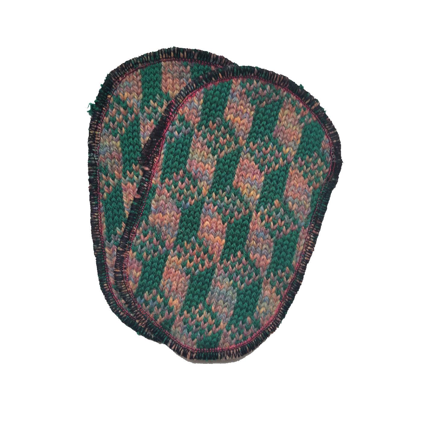 toppa verde multicolor cubetti