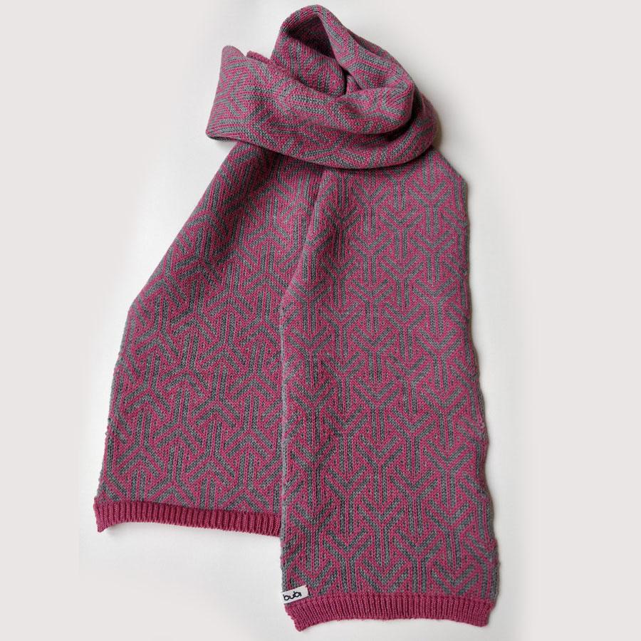 sciarpa lunga rosa grigio